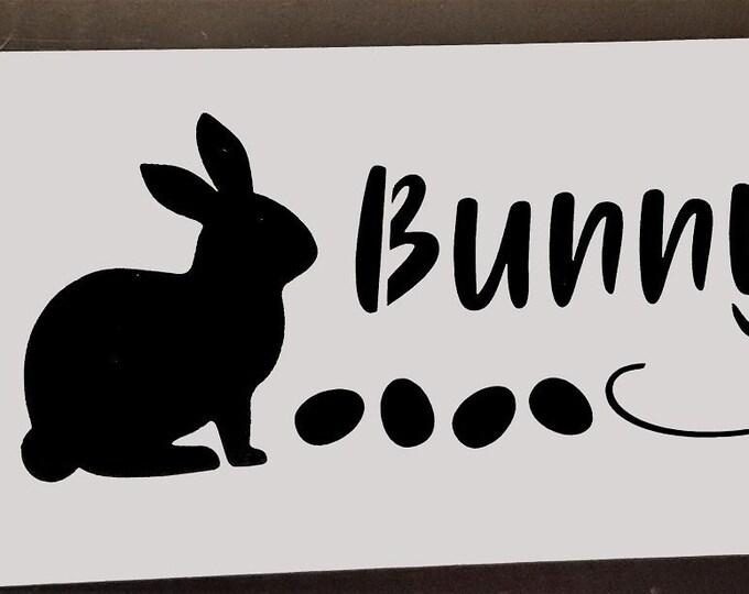 Bunny Trail Stencil - Spring/Bunny Stencil - Stencil Only