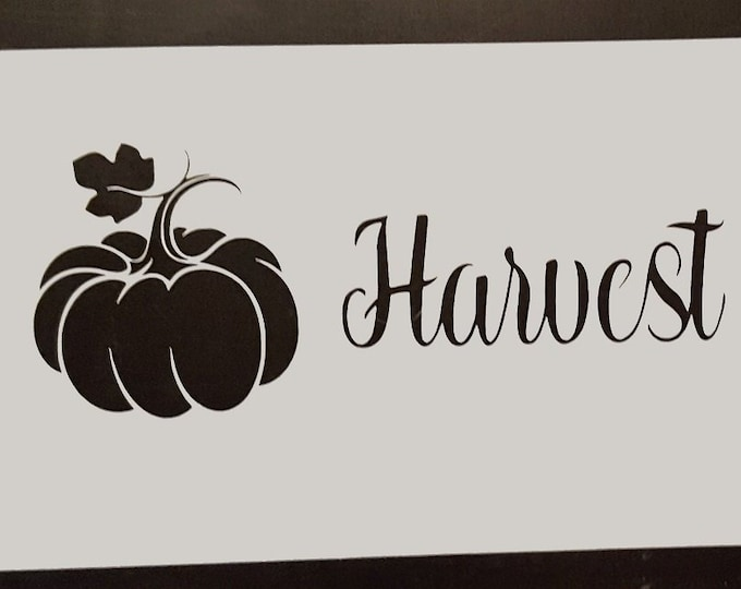 Harvest Blessings Stencil - Fall/Halloween Stencil - Stencil Only
