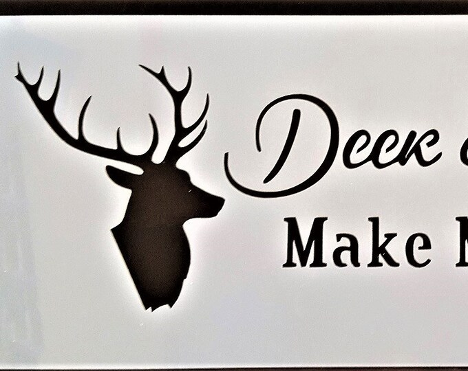 Deer & Beer Stencil - Deer/Beer/Alcohol - Stencil Only