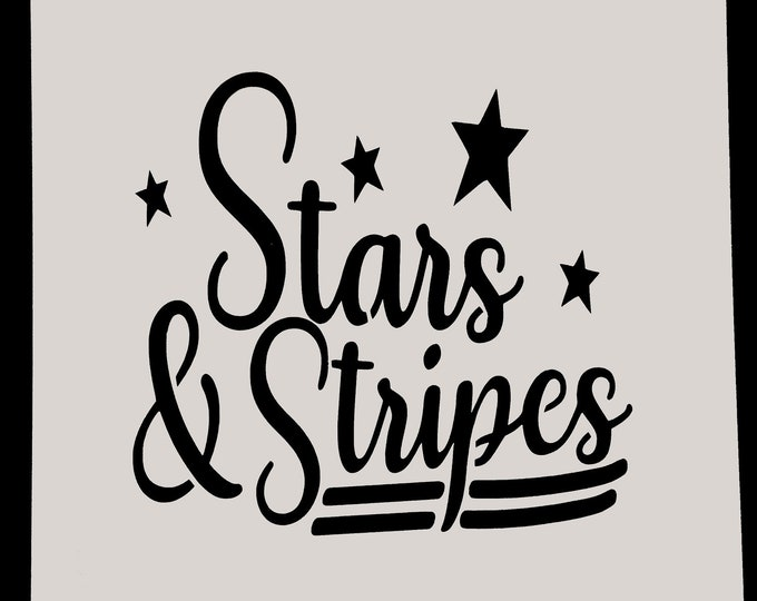 Mini Stars & Stripes Stencil - Americana/4th Of July Stencil - Stencil Only