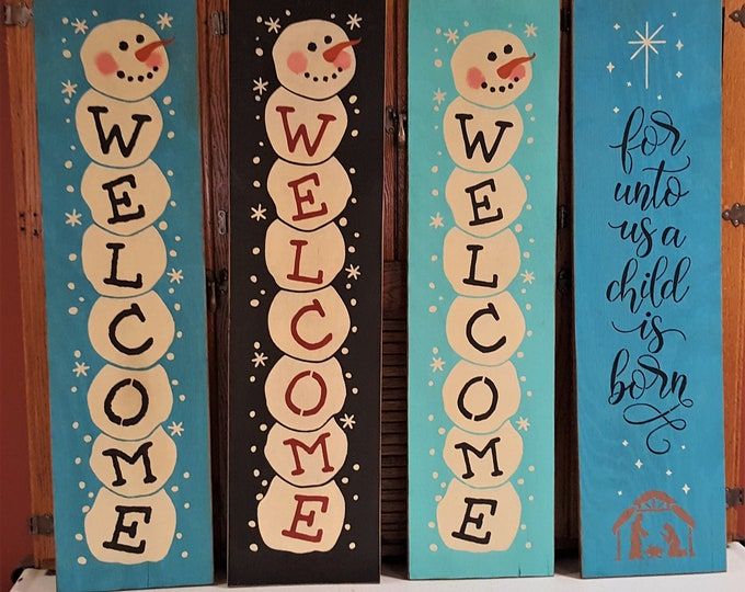 AFTER CHRISTMAS SALE!!! - Religious, Christmas, Snowman, Baby It's Cold Outside, Christmas Welcome,Snowflakes