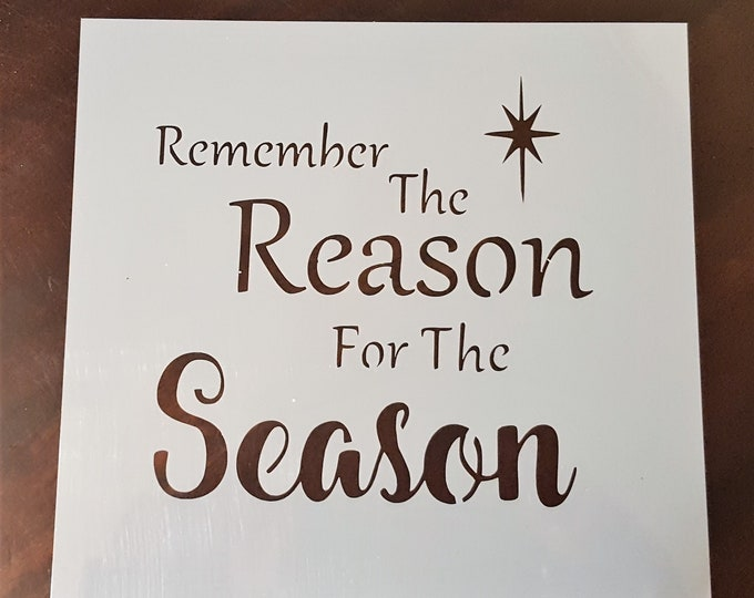 Mini Remember The Reason For The Season Stencil - Winter/Christmas Stencil - Stencil Only