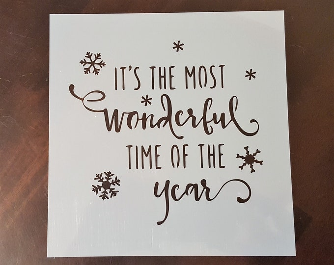 Mini It's The Most Wonderful Stencil - Winter/Christmas Stencil - Stencil Only