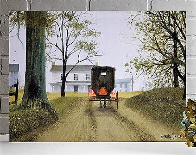Lighted Almost Home Canvas - Amish/Buggy - Wall Decor - Wall Hanging