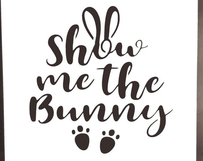 Mini Show Me The Bunny Stencil - Easter/Bunny Stencil - Stencil Only