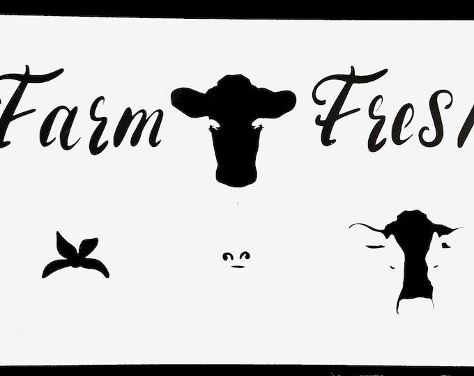 Farm Fresh Stencil - Farm/Dairy- Stencil Only
