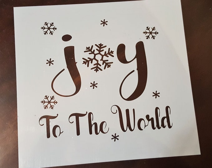 Mini Joy To The World Stencil - Winter/Christmas Stencil - Stencil Only
