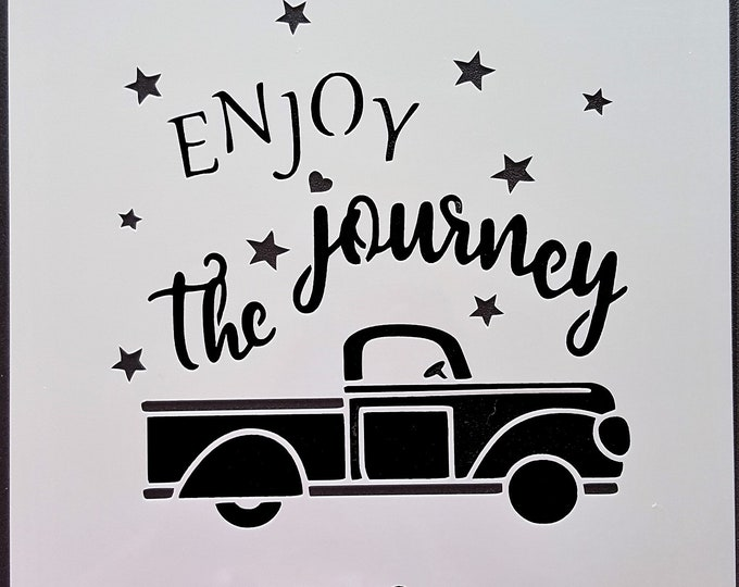 Mini Enjoy The Journey Stencil - Vintage Truck Stencil - Stencil Only