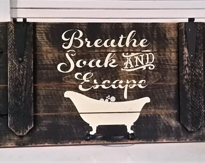 Primitive Door Bath Sign, Oh So cute!!