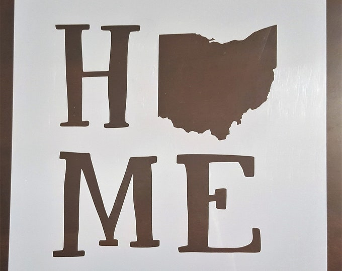 Mini Your State Home Stencil - Choose Your State - Stencil Only