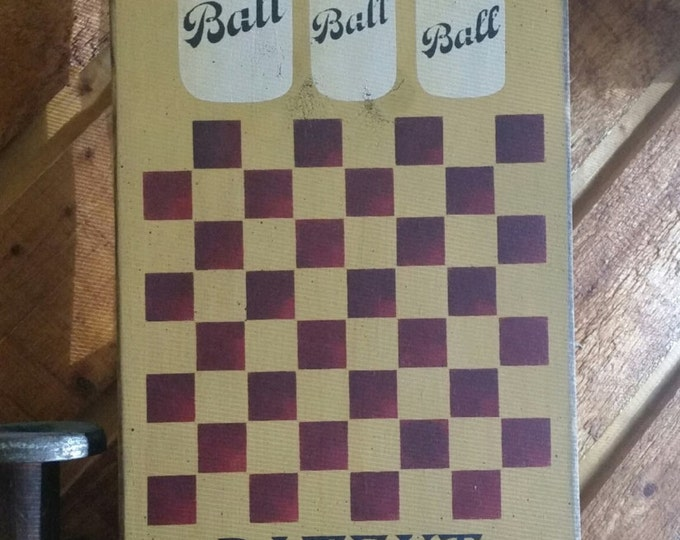 Primitive Large Ball Mason Jar Checker Board
