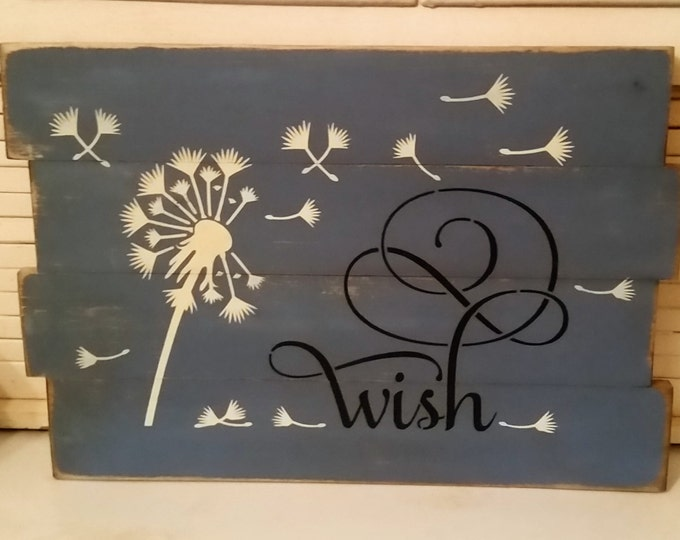 Primitive Dandelion Wish Sign