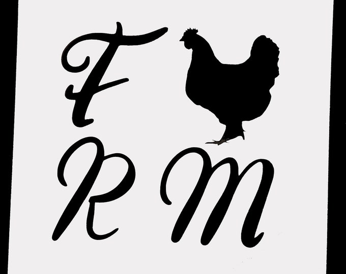 Mini Farm Chicken Stencil - Farm/Chicken - Stencil Only