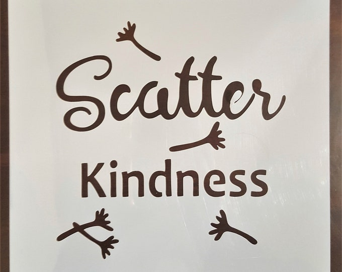 Mini Scatter Kindness Stencil - Dandelion/Kindness Stencil - Stencil Only