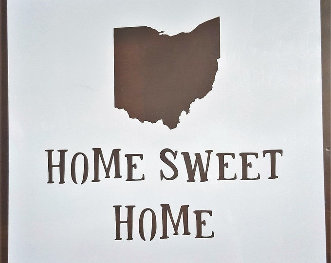 Mini Home Sweet Home Stencil - Choose Your State - Stencil Only