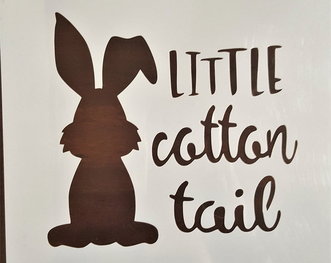 Mini Little Cotton Tail Bunny Stencil - Easter/Bunny Stencil - Stencil Only