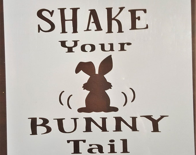 Mini Shake Your Bunny Tail Stencil - Easter/Bunny Stencil - Stencil Only