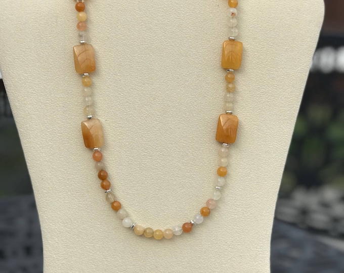 "19"" Yellow Jade Necklace"