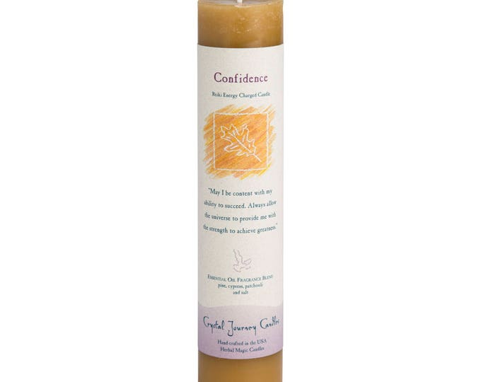 Confidence Reiki Energy Charged Candle