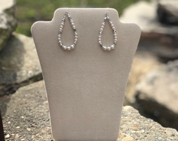 Swarovski White Pearl Earrings