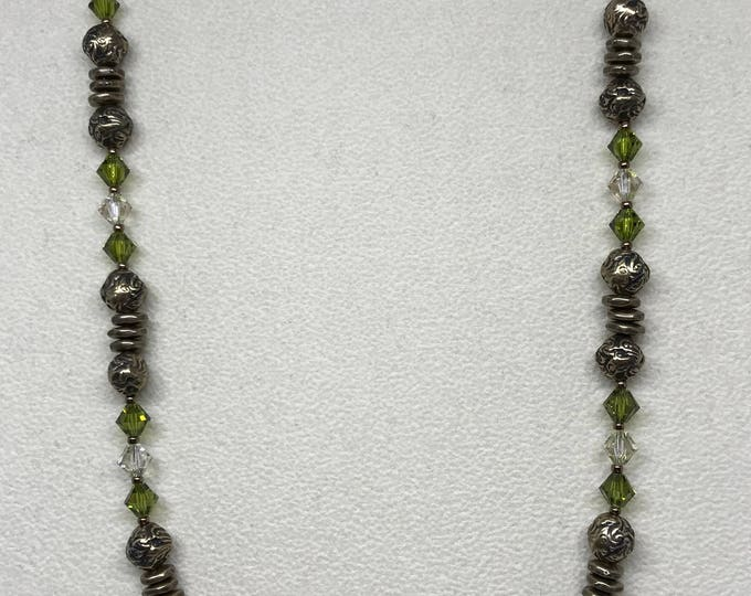 "20"" Green Garnet Tuscany Necklace"