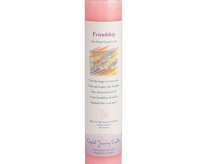 Friendship Reiki Energy Charged Candle