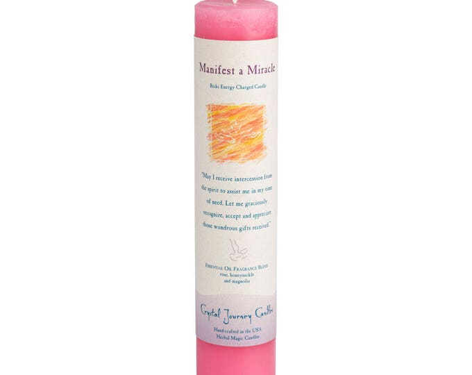 Manifest A Miracle Reiki Energy Charged Candle