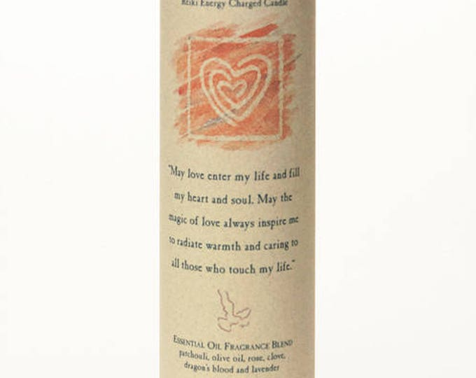 Love Reiki Energy Charged Candle