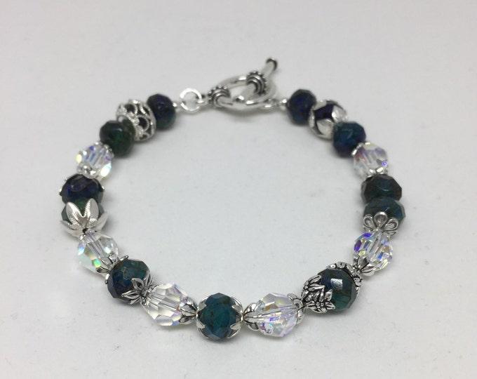 Czech Glass & Swarovski Crystal Bracelet with SS Accents