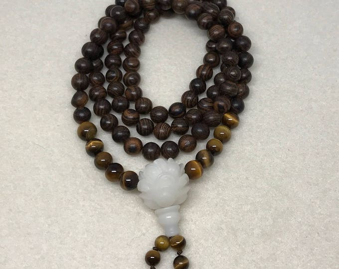 Mala Necklace with Tiger Eye