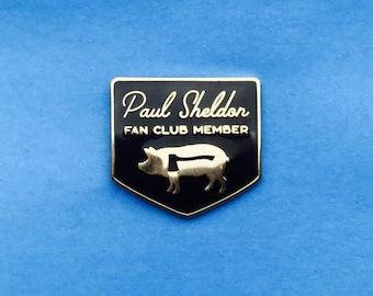Stephen King Misery Hard Enamel Pin Paul Sheldon Fan Club Misery Book Series Annie Wilkes Constant Reader Black Gold Metal Horror Halloween