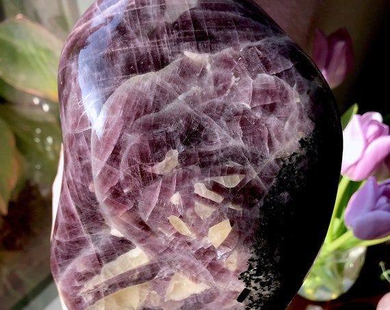 Beautiful XXL Deep Purple Angelite from Madagascar | Very Rare | A Grade | Third Eye Chakra | Purple Angel Wing Angelite P318