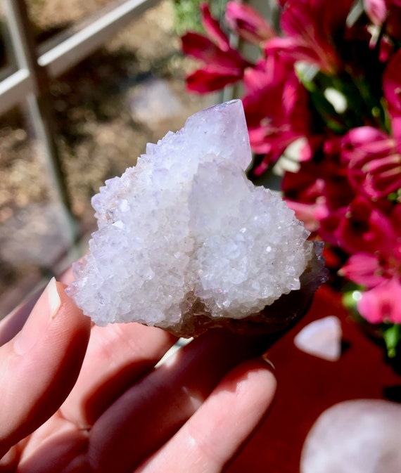 Beautiful Amethyst Spirit Quartz Cluster from South Africa   Lovely Lilac Color   Amethyst Cactus Quartz   Amethyst Spirit Quartz   SP-V