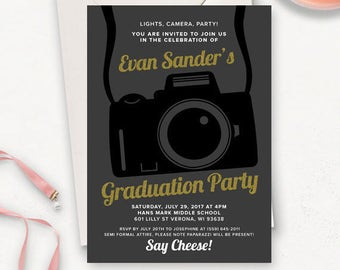 College Graduation Invitation Template / Graduation Party Invitations / Graduation Announcement / Graduation Party Invitations Printable