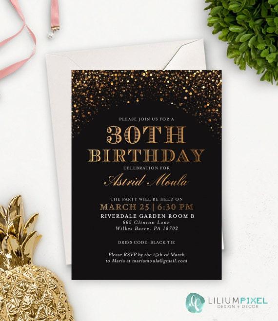 30th birthday invitation for her printable birthday etsy