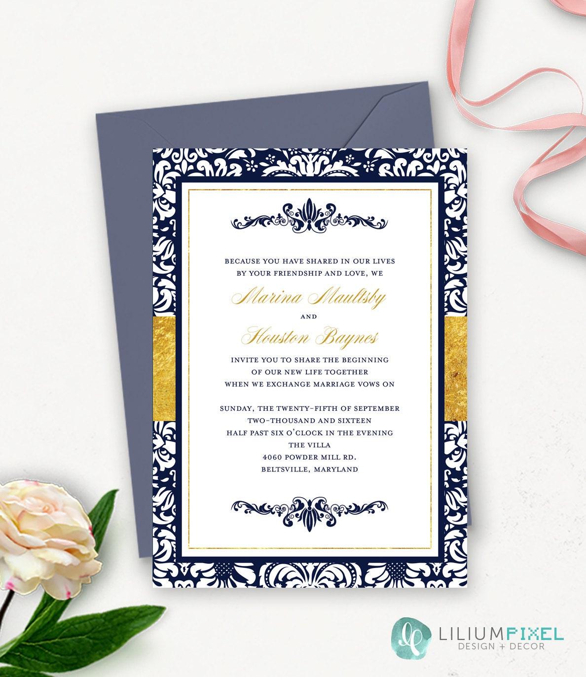 50: Fancy Wedding Invitations Templates At Websimilar.org