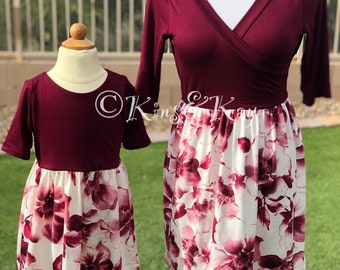 0f4102ce37c Mother daughter matching dress
