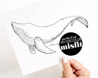 Whimsical Whale with YouTube Tutorial Drawing