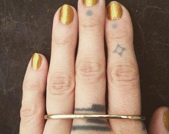 Custom Nameplate Ring Brass Knuckles Sterling Silver Name Ring Etsy