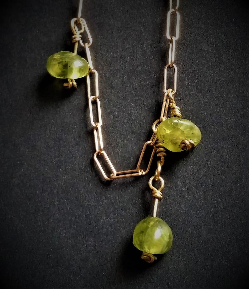 Boho Ankle Bracelet Minimalist Anklet Handmade Body Jewelry Peridot and Bronze Ankle Bracelet Gold Anklet Bohemian Gold Ankle Bracelet