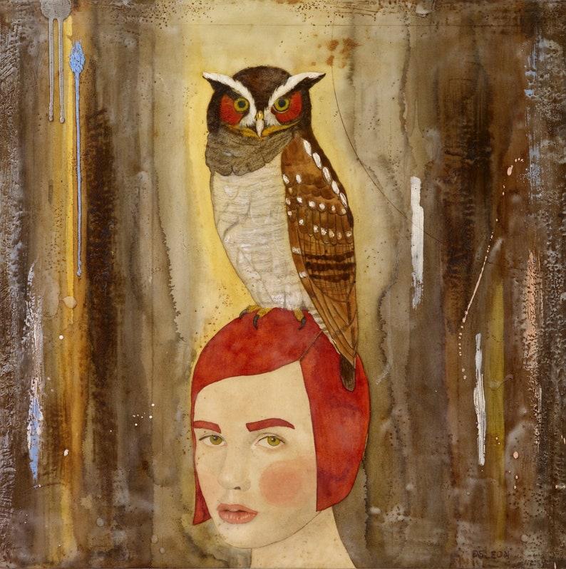 Messenger owl bird painting owl painting owl art inspiring image 0