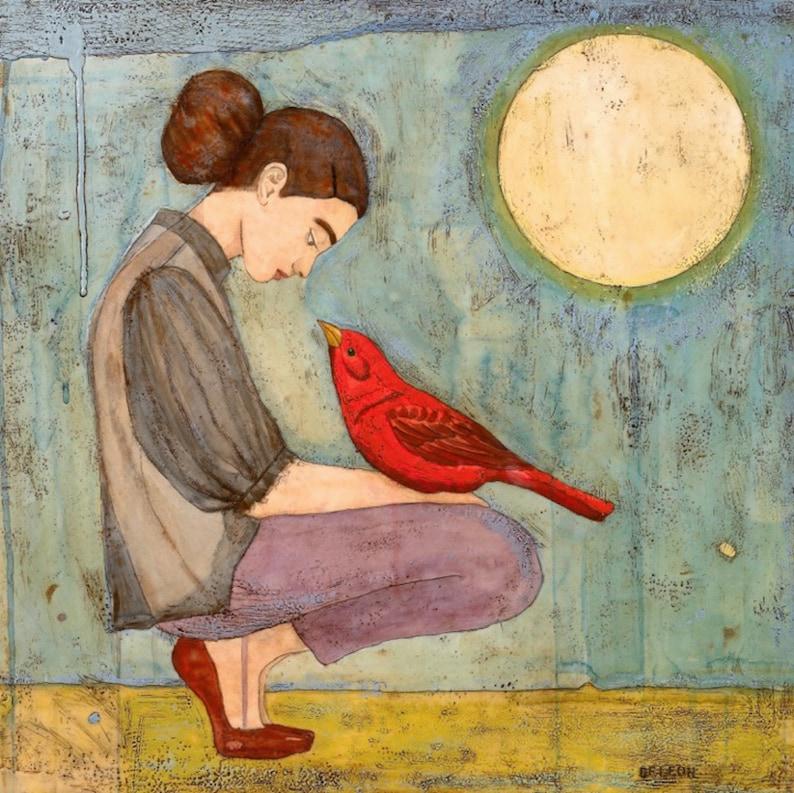 Radiance Cardinal bird painting cardinal art inspiring art image 0