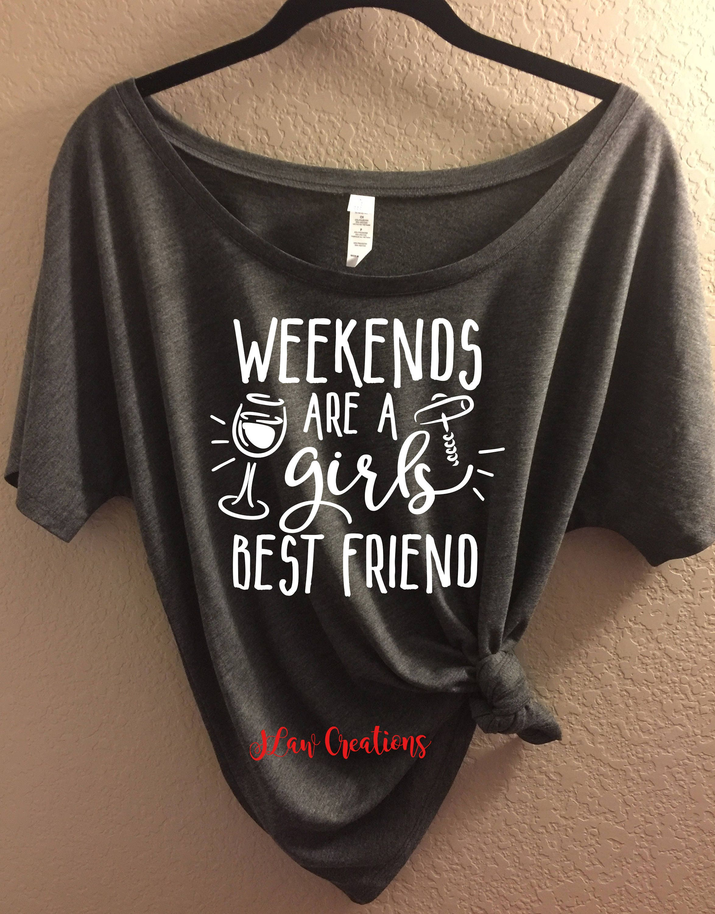 f9a41fb08ef92e Weekends are Girls Best Friend Bella Canvas Slouchy Tee | Etsy