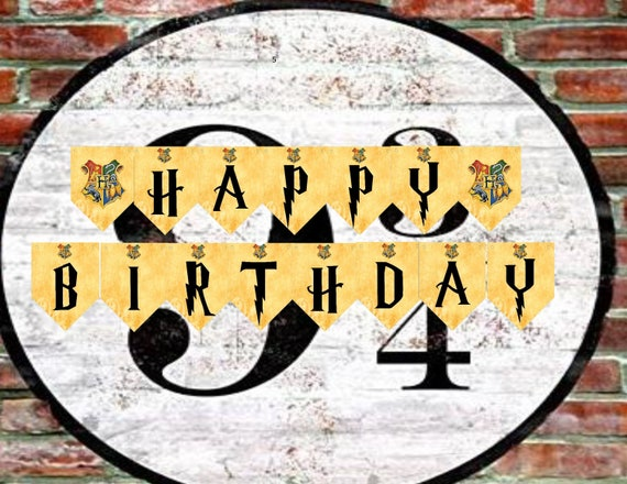 Harry Potter Inspired Alphabet And Numbers Banners For Birthday Free Hp Font Zip File Included