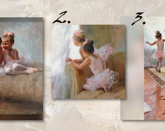 Set of 8 Mix & Match - Dance - Ballet - Dancer Art Blank Greeting Cards with White Envelopes Featuring the Oil Paintings of Anna Rose Bain