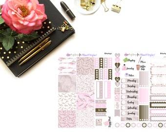 Cherry Blossoms Kit// MINI HP Weekly Kit// 2 sheets of planner stickers