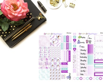 Planner Girl Kit// MINI HP Weekly Kit// 2 sheets of planner stickers