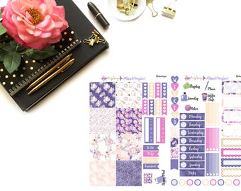 Fashion Kit// MINI HP Weekly Kit// 2 sheets of planner stickers