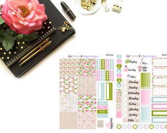Lotus Kit// MINI HP Weekly Kit// 2 sheets of planner stickers