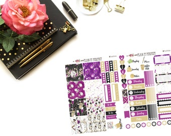 New Years 2018 HP Kit// MINI HP Weekly Kit// 2 sheets of planner stickers